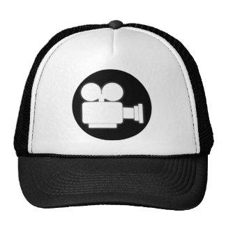 MOVIE CAMERA (BLACK AND WHITE) Trucker Hat