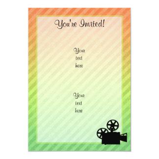 "Movie Camera 5"" X 7"" Invitation Card"