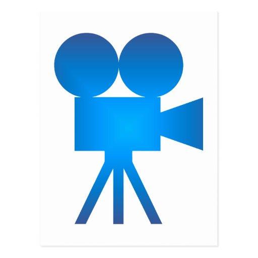Movie camera movie camera postcard