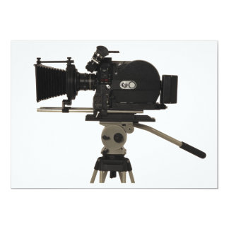 Movie Camera Side 13 Cm X 18 Cm Invitation Card