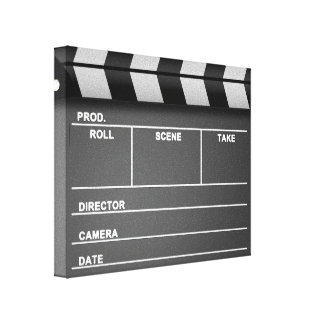 Movie Clapboard Stretched Canvas Print