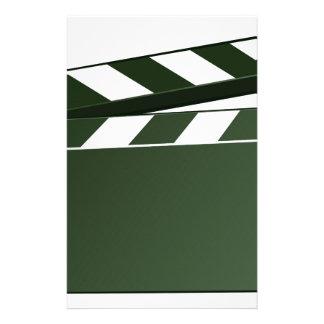 Movie Clapper Board Background Stationery