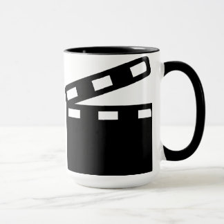 Movie clapper cinema mug