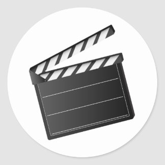 Movie Clapper Classic Round Sticker