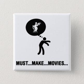 Movie Director 15 Cm Square Badge