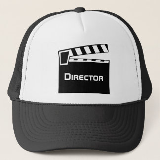Movie Director's Hat With Clapperboard Slate