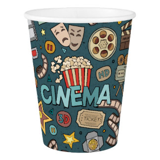 Movie Fan Cinema Theater Design Paper Cup