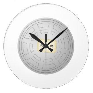 Movie Film Reel Wall Clocks