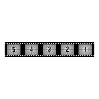 Movie Film Strip Countdown Poster