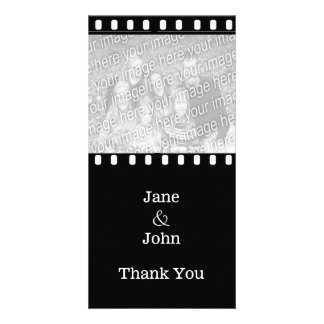 Movie Film Wedding Theme Photo Thank You Customised Photo Card