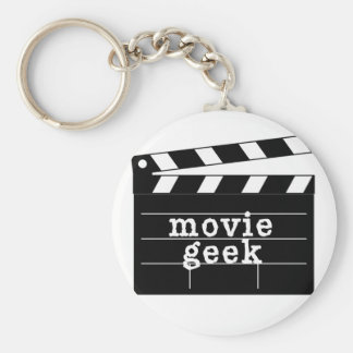 Movie Geek with Clapboard Key Ring
