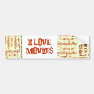 Movie Lover Bumper Sticker