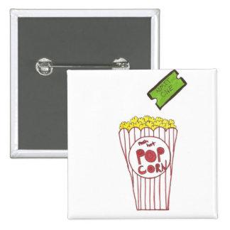 Movie Night 15 Cm Square Badge