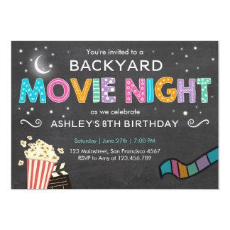 Movie Night Birthday Invitation Under the Stars