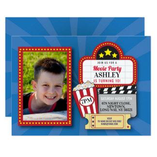 Movie Night Birthday Party Any Age Cinema Photo Card