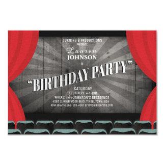 Movie Night Birthday Party Theater Invitation