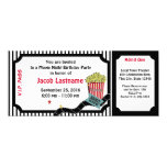 Movie Night Birthday Ticket 10 Cm X 24 Cm Invitation Card