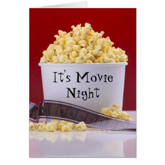 Movie Night Card