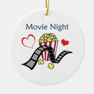 Movie Night Ceramic Ornament