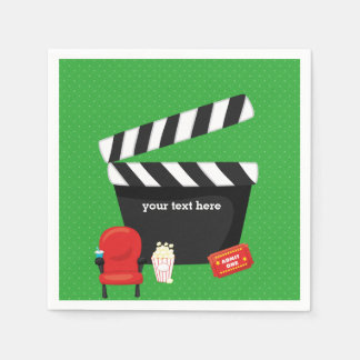 Movie night * choose background color disposable napkin