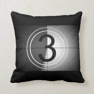 "Movie Night  ""Countdown roll tape"" Cushion"
