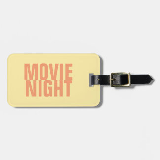 Movie Night Luggage Tag w/ leather strap