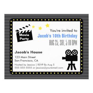 Movie Night Party Birthday Party Invite