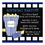 Movie Night-Popcorn Film Strip Personalised Invitation