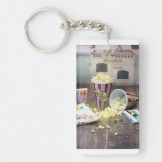 Movie Night Popcorn Key Ring