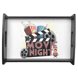 movie night serving tray
