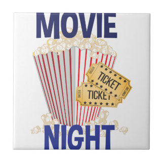 Movie Night Small Square Tile