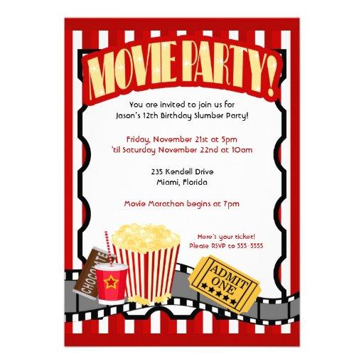 Movie Ticket Invitation Template Printable Movie Ticket Theme – Movie Ticket Invitations Template