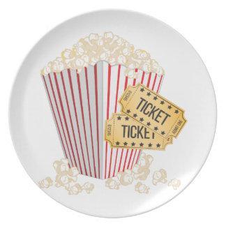 Movie Popcorn Dinner Plate