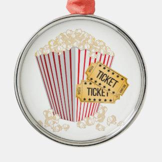 Movie Popcorn Metal Ornament