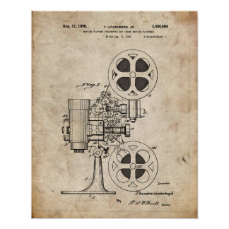 Movie Projector Patent Poster