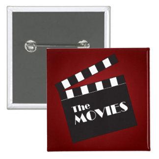 Movie Slate Clapboard 15 Cm Square Badge