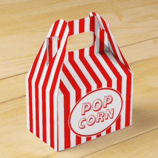 Movie Snack Bar Red And White Pop Corn Favour Box