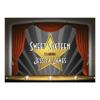 Movie Star Sweet Sixteen Custom Invitations