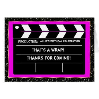 Movie Star Thank You Card
