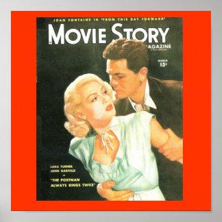 Movie Story Cover 1940 s Lana Turner Print