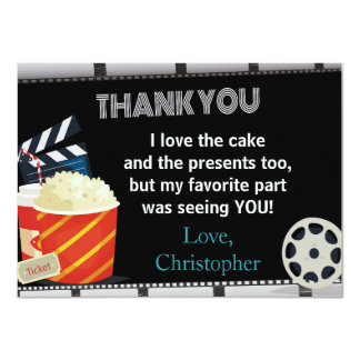 MOVIE THANK YOU CARD