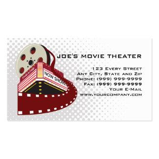 movie theater cinema film reel rolling retro business card templates