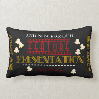 Movie Theater Feature Presentation popcornPillow Lumbar Cushion