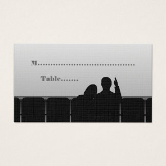 Movie Theater Place Cards, Gray