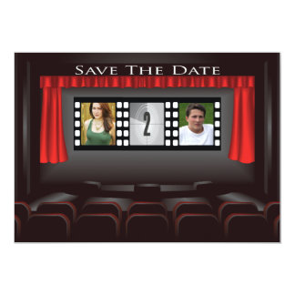 Movie Theater Save The Date Announcement