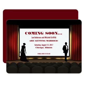 movie theater save the date invitation