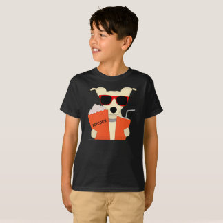Movie Theatre Dog 3D Glasses Popcorn Kids T-Shirt