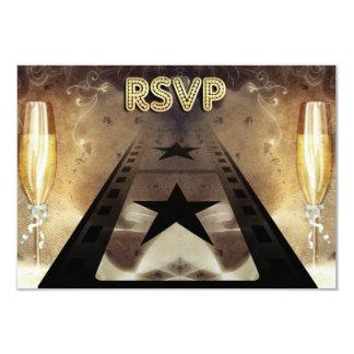 Movie Themed Wedding Response & Meal Card 9 Cm X 13 Cm Invitation Card