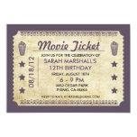 Movie Ticket 13 Cm X 18 Cm Invitation Card