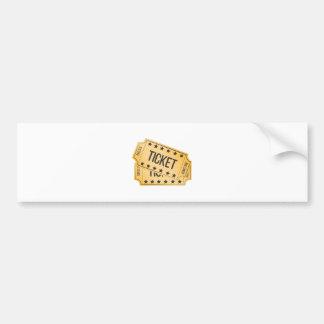 Movie Ticket Bumper Sticker